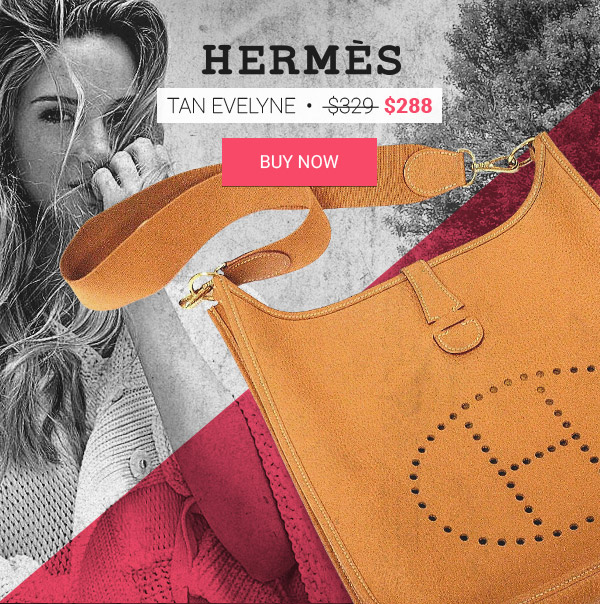 Hermes Replica Tan Evelyne